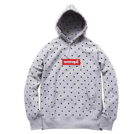fuck hype supreme x comme des garcons box logo hoodie