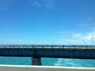 Driving a long the Overseas Highway in the Florida Keys