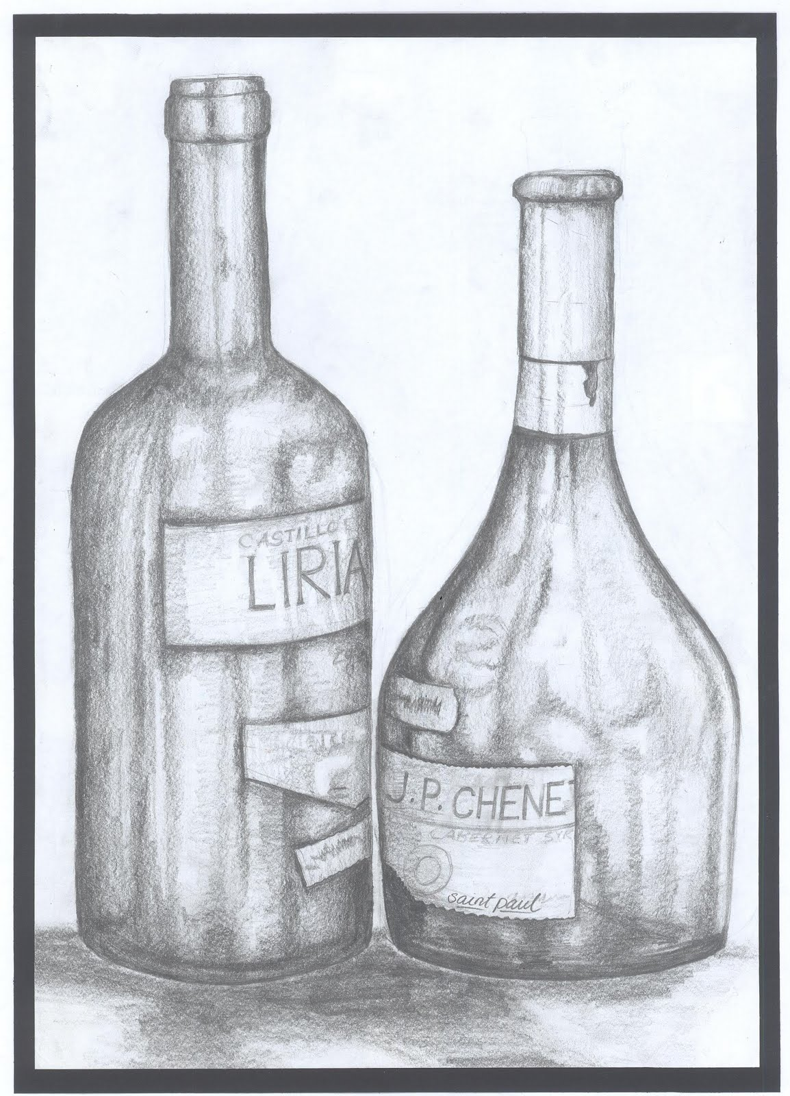 This is a graphic of Selective Drawing Of Bottle
