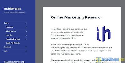 Situs online survey InsideHeads | SurveiDibayar.com