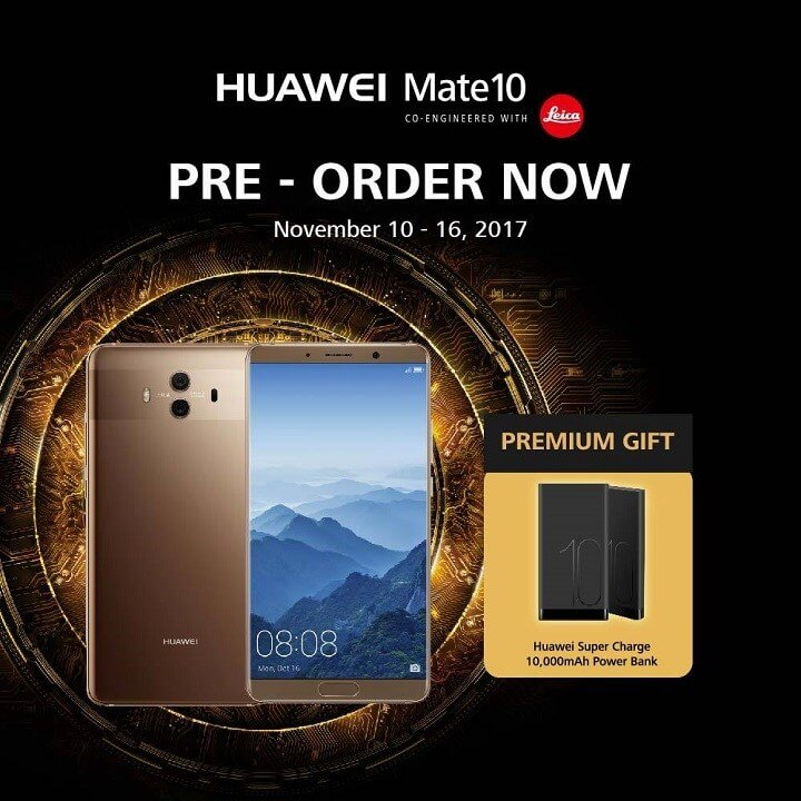 Huawei Mate 10 Now Available for Pre-order; Priced at Php32,990