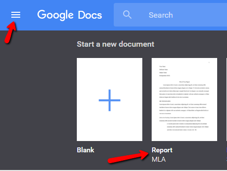 redwood library and lab mla format in google docs
