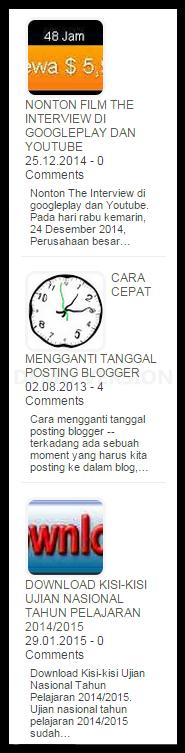 widget random post
