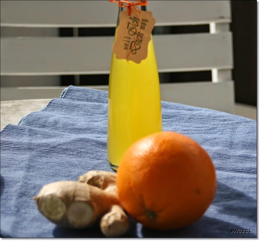 was cookst du heute orangen ingwer lik r. Black Bedroom Furniture Sets. Home Design Ideas