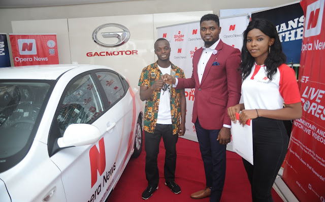 Opera News reveals the last car winner of the successful campaign ?Shake and Win? in Nigeria