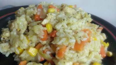 Pierś kurczaka z ryżem