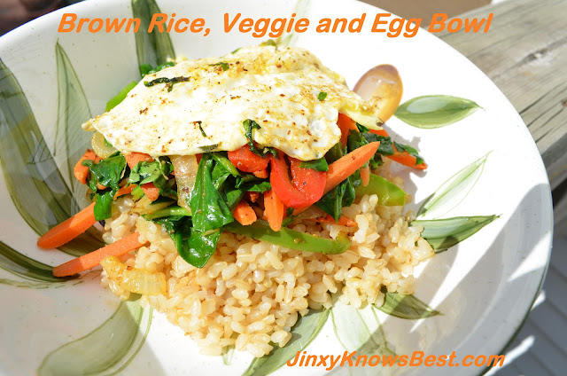 Brown Rice, Veggie and Egg Bowl