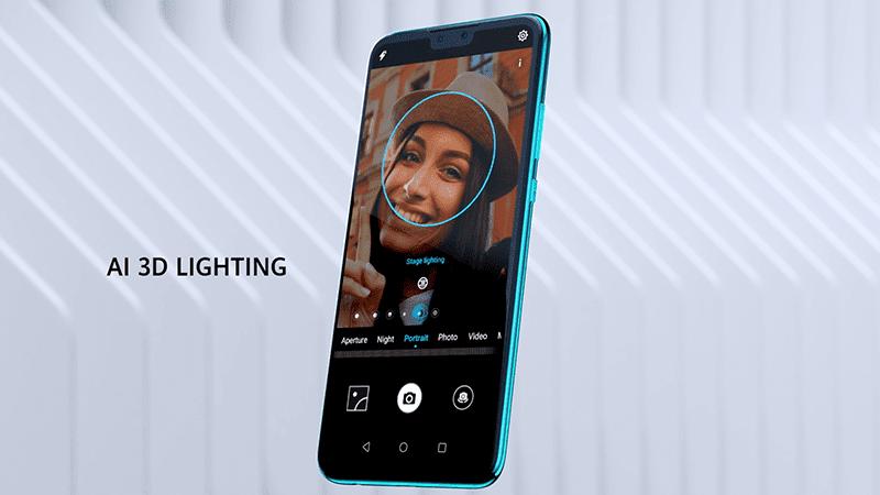 3D portrait lighting effects