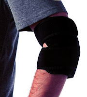 Magnetic elbow wrap used for treating tendonitis.