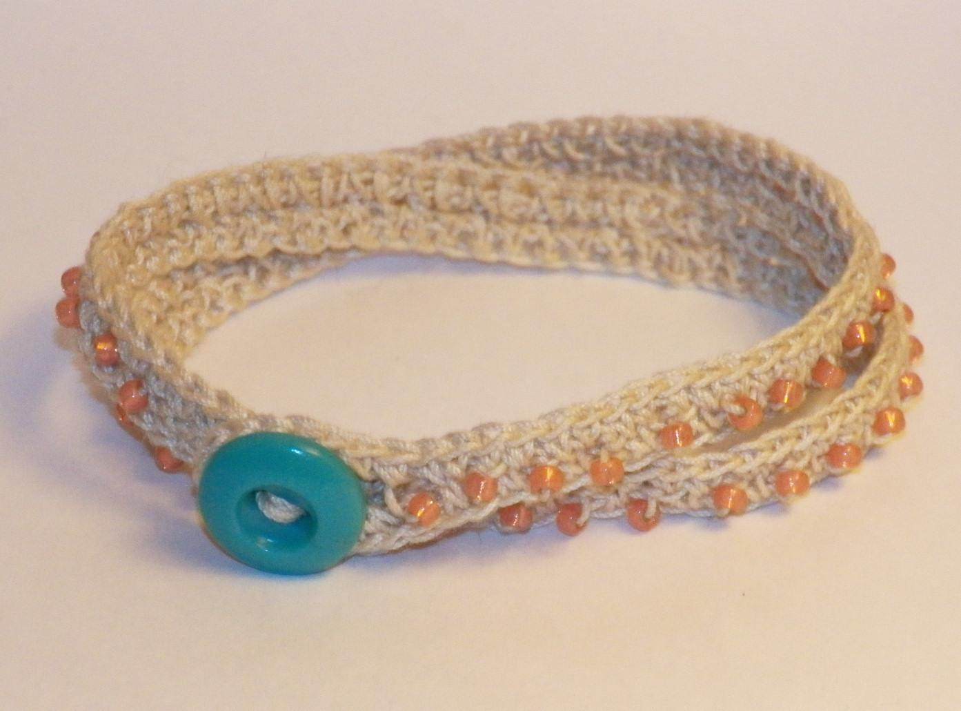 Crochet Beaded Wrap Bracelet Pattern