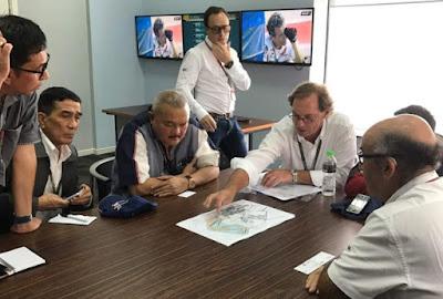Rapat dengan Dorna, Gubernur Sumsel Pamer Desian Sirkuit Jakabaring