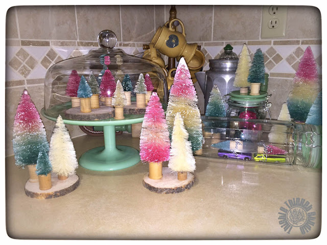 Dyed Bottle Brush Trees Tutorial by Thistle Thicket Studio. www.thistlethicketstudio.com