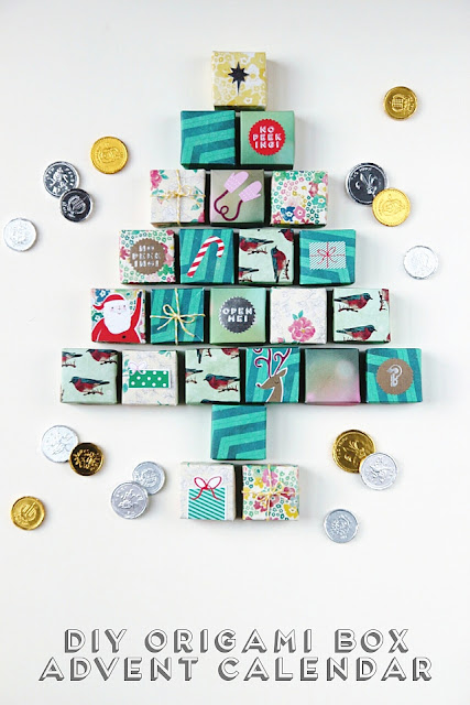 diy oragami advent calendar