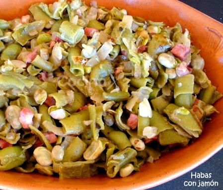 Cocinax2 las recetas de laurita habas con jam n - Habas tiernas con jamon ...