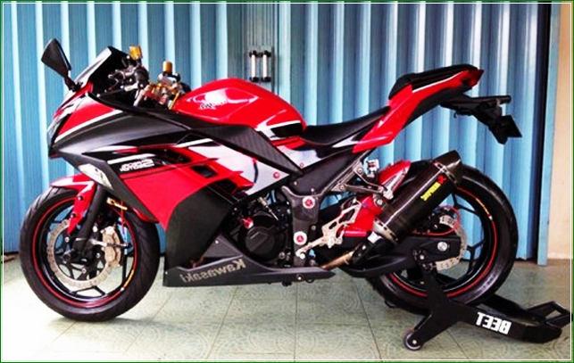 Modipikasi Gaya Moge Modern Swing Arm - Contoh Gambar Dan Foto Konsep Desain Modifikasi Kawasaki Ninja 4 Tak 250cc Sporti Ala Moge Keren Banget