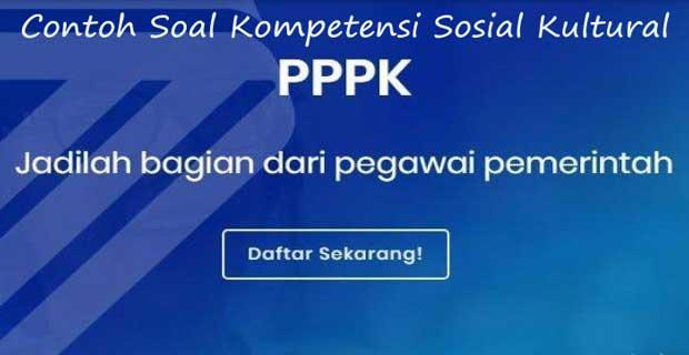 contoh soal seleksi kompetensi sosial kultural pppk