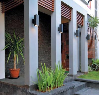 desain teras rumah minimalis dengan kisi kisi kayu
