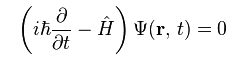L'equazione di  Schrödinger.