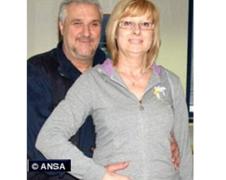 Image: Exceptional case: Giovanni Ciardi, with partner Bruno Paoli, is pregnant at 54