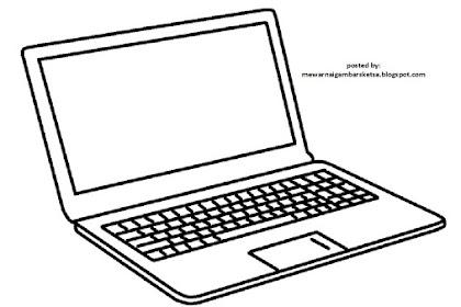 Mewarnai Gambar Laptop