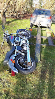 A dead 1977 Harley FXS Lowrider