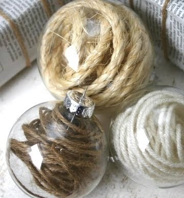 clear ornaments filled with rope