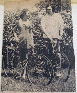 us with our bikes