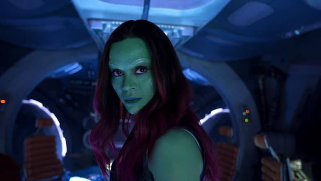Zoe Saldana berperan sebagai Gamora, Guardians of the Galaxy Vol.2