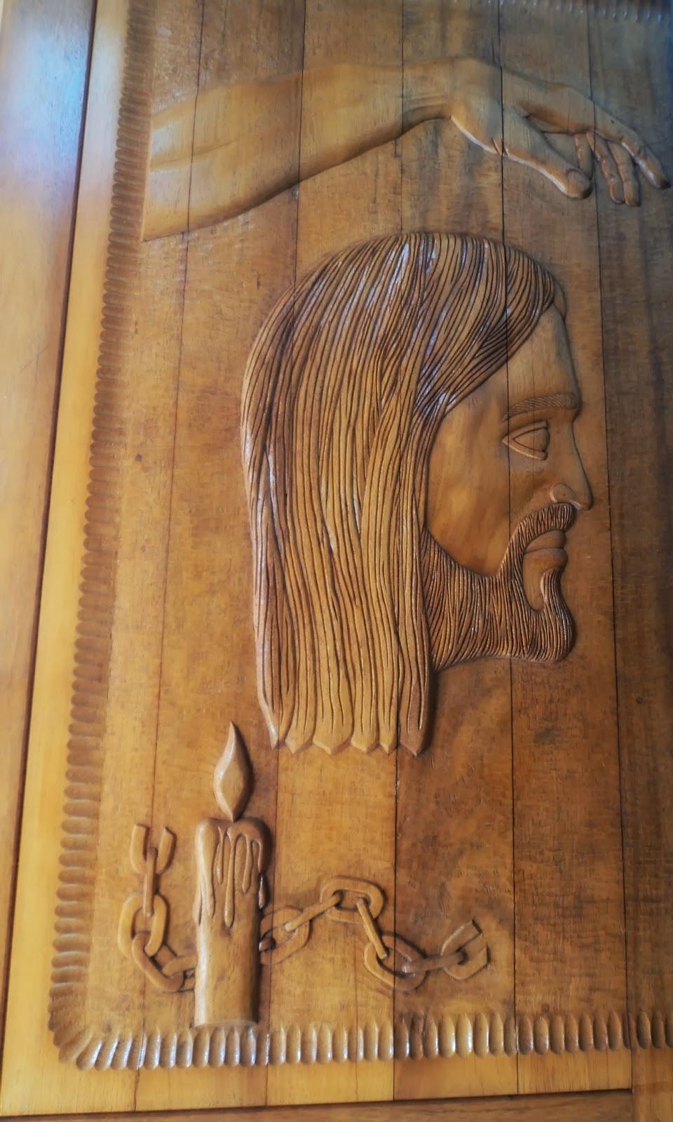 Cristo na Porta da Igreja Matriz de Içara