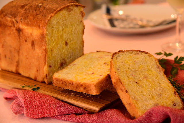 Hearty Cheddar Cheese and Bacon Bread