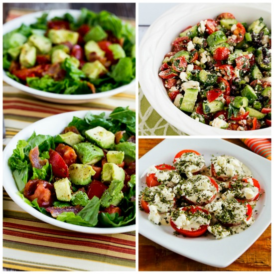 Ten Favorite Summer Tomato Salads with Garden Tomatoes  (and ten honorable mentions) found on KalynsKitchen.com