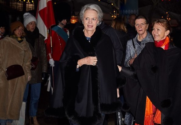 Queen Margrethe and Princess Benedikte attended the premiere of The Nutcracker Ballet performed at Tivoli Ballet Theatre in Copenhagen
