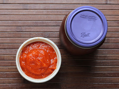 Roasted Red Pepper Spread - great on sandwiches, pasta, and in recipes. Try it on pizza instead of tomato sauce!