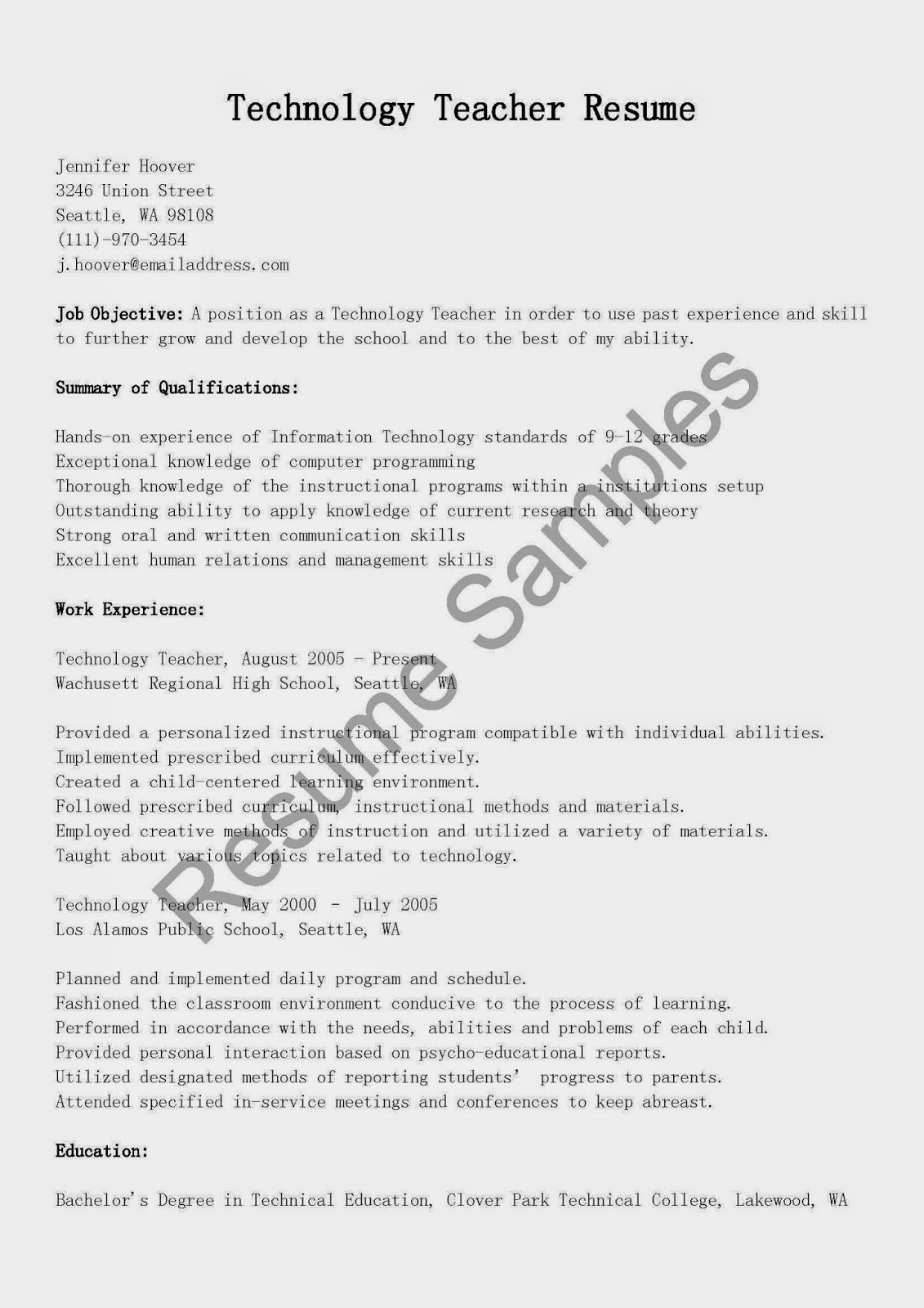 Best Of Technical Instructor Sample Resume Daily