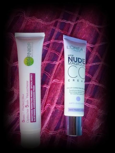 REVIEW L'Oréal nude magique cc cream & Garnier 5 sec perfect blur instant skin corrector