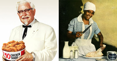 Colonel Sanders, founder of KFC, and Miss Childress who created the recipe