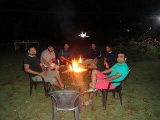 Campfire at pawna camping