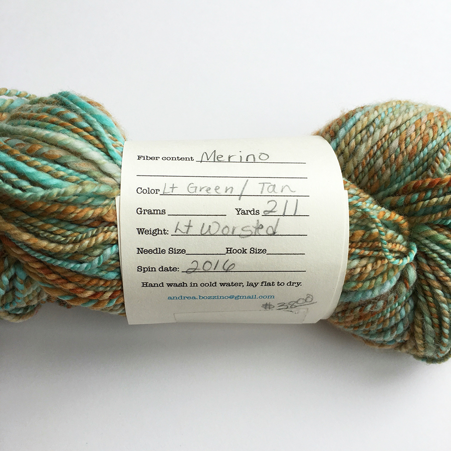 Handspun yarn by Andrea of Winterport, ME, Dayana Knits blog