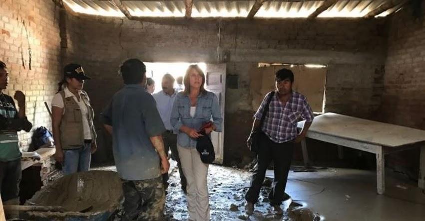 MIDIS: Ministra Aljovín supervisa limpieza de calles, colegios y albergues de Piura - www.midis.gob.pe
