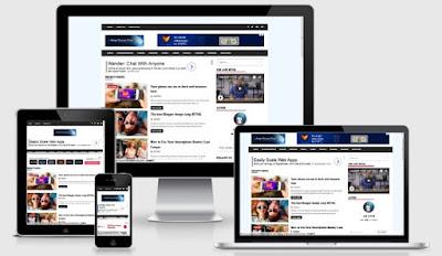 AMP Ocean Free Blogger Template - Instan Blogging
