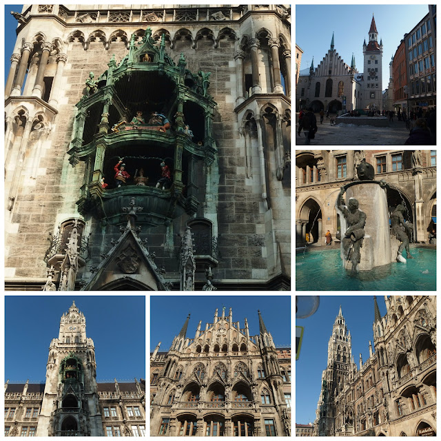 Views of the New and Old Town Halls and the Marienplatz