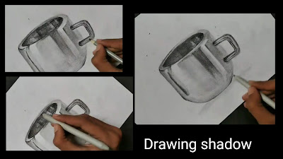 Drawing shadow for cup, how to draw cup,Drawing realistic steel cup drawing, how to draw cup, step by step tutorial of Cup , easy drawing for begginers, drawings for kids, graphite pencils drawing