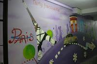 Artystyczne malowanie ściany w barze, wystrój baru poprzez malowanie, Warszawa