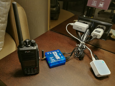 DRM reissusetti Barcelonassa hotellihuoneessa, kun verkkovirtaa oli saatavilla