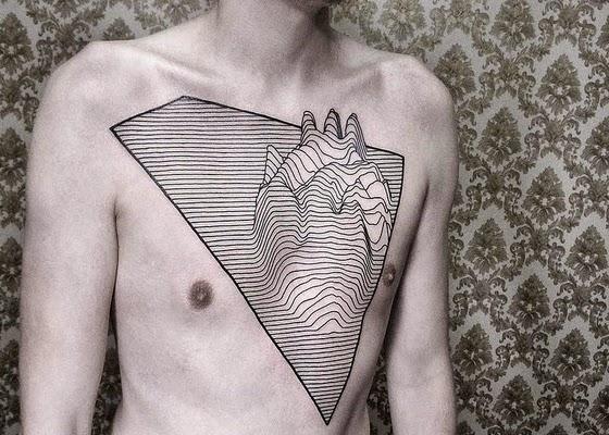 Tattoos geométrica Surpreendentemente 3D