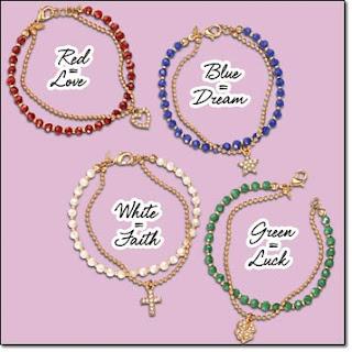 Avon Double Layer Beaded Charm Bracelet