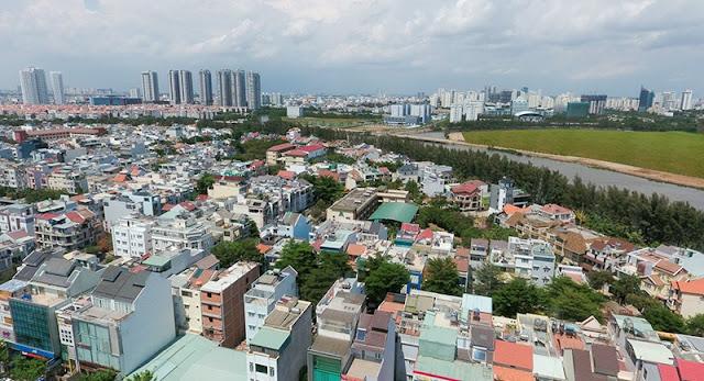View nhìn trên cao của Căn hộ SaiGon Mia