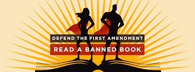 ALA poster: Defend the First Amendment, Read a Banned Book