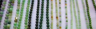 the Burmese jewelry jade product among other are ball chain