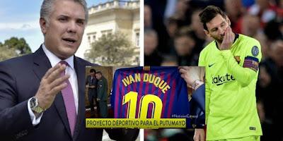 Culpan a Iván Duque por la eliminación del Barcelona de la Champions League